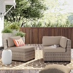 *10 Piece Fairfield Indoor/Outdoor Cushion Covers - Beige - Covers Only - Final Sale