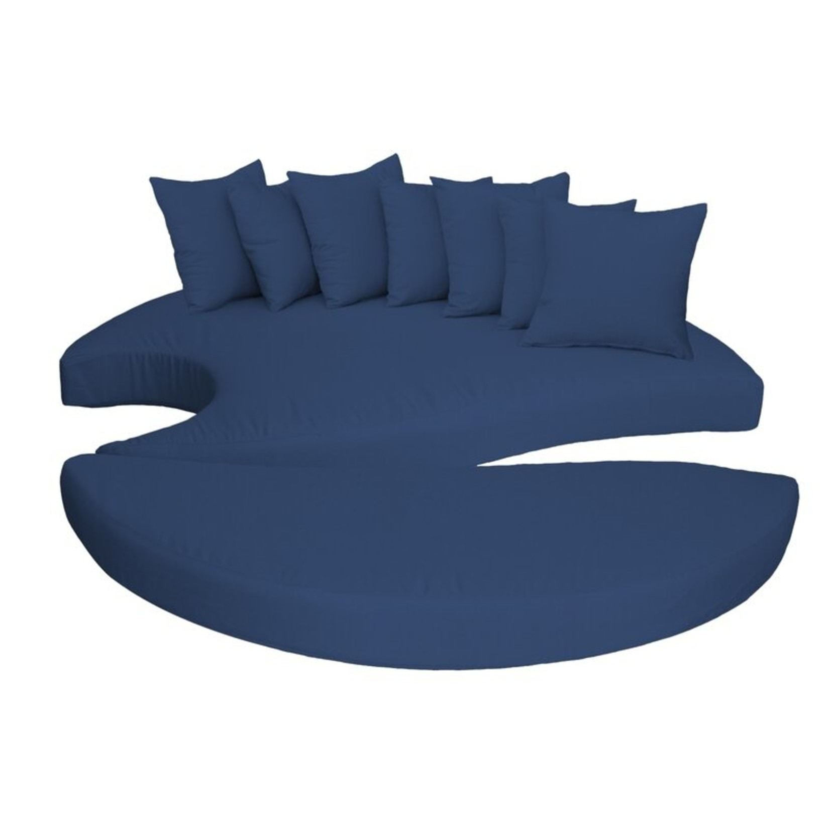 *9 Piece Billye Indoor/Outdoor Cushion Covers - Navy - Covers Only - Final Sale