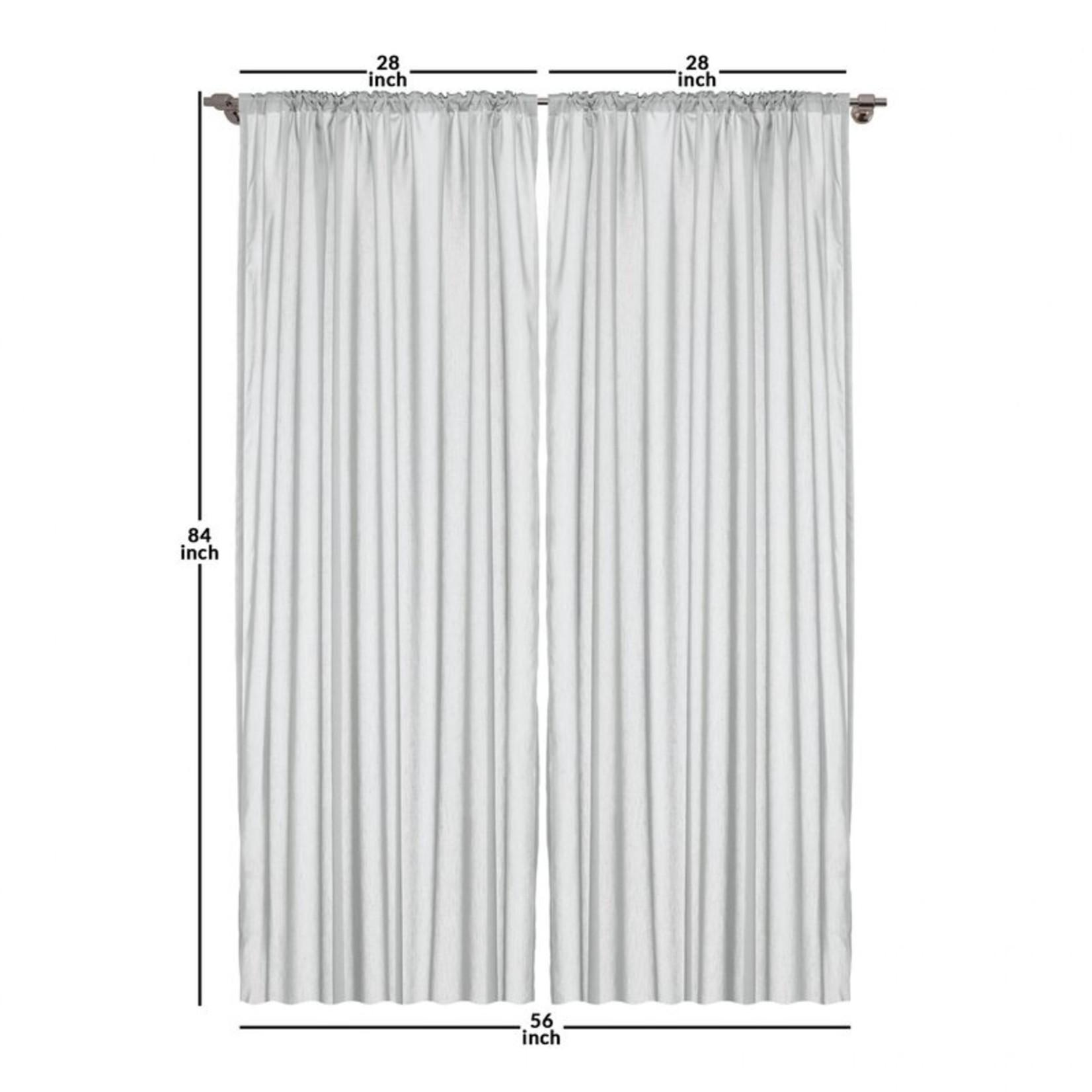 "*28"" x 84"" - Abstract Room Darkening Rod Pocket Curtain Panels - Set of 2"