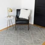 """*8' x 10'2"""" - Ammons Geometric Gray Indoor/Outdoor Area Rug"""