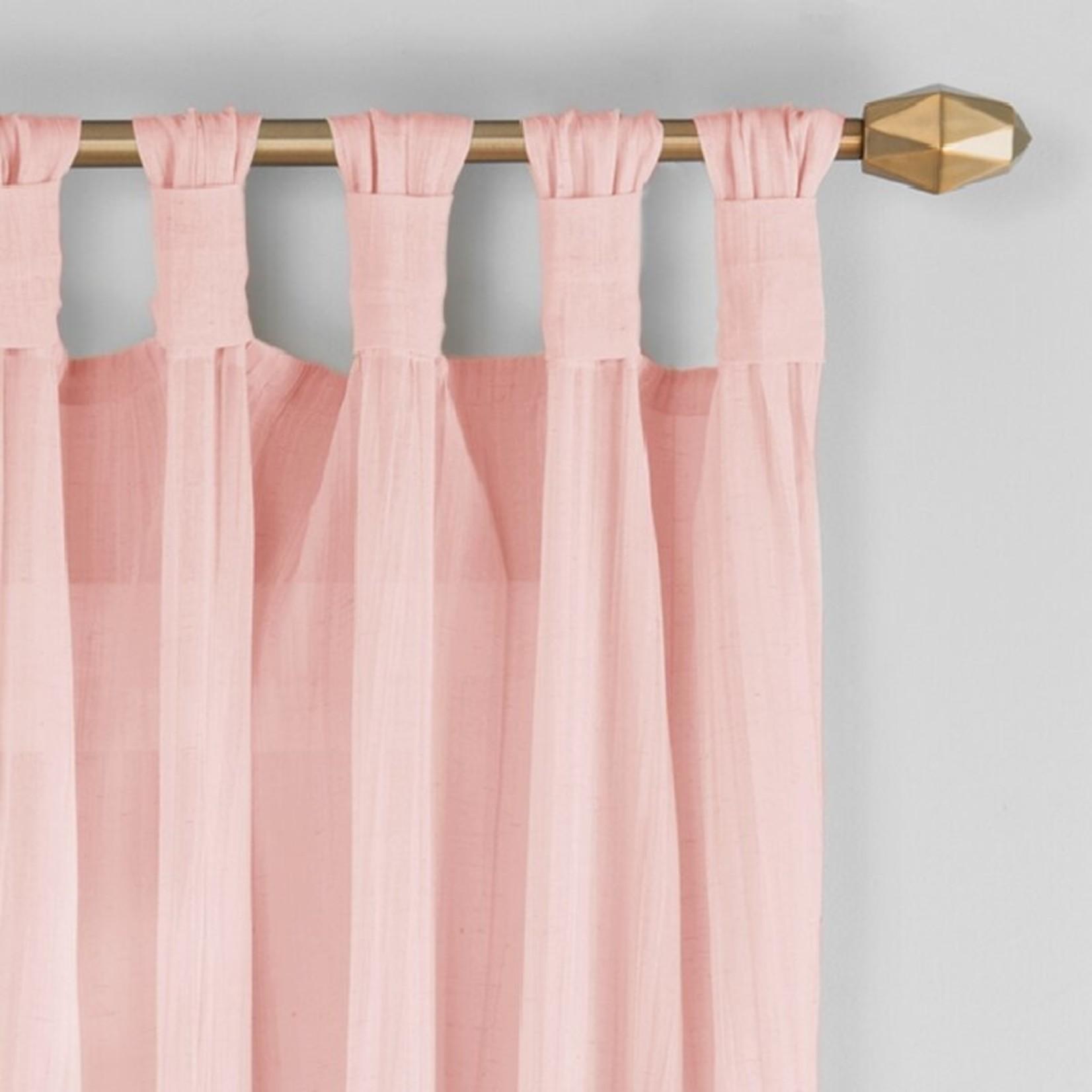 "* 50"" x 84"" - Liebert Solid Semi-Sheer Tab Top Curtain Panels - Set of 2"