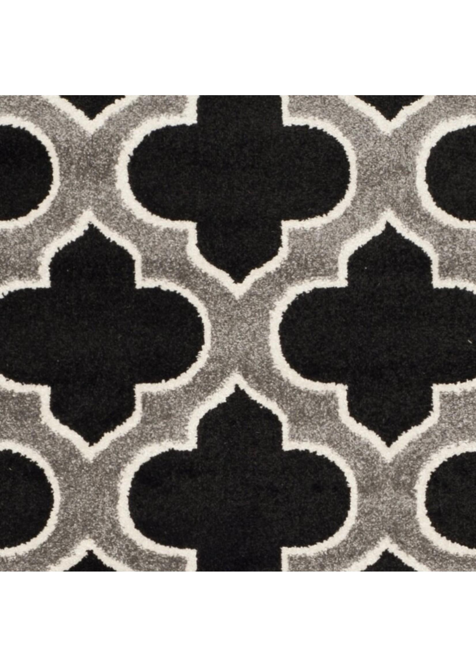 * 9' x 12' - Dombrowski Geometric Anthracite/Gray Area Rug