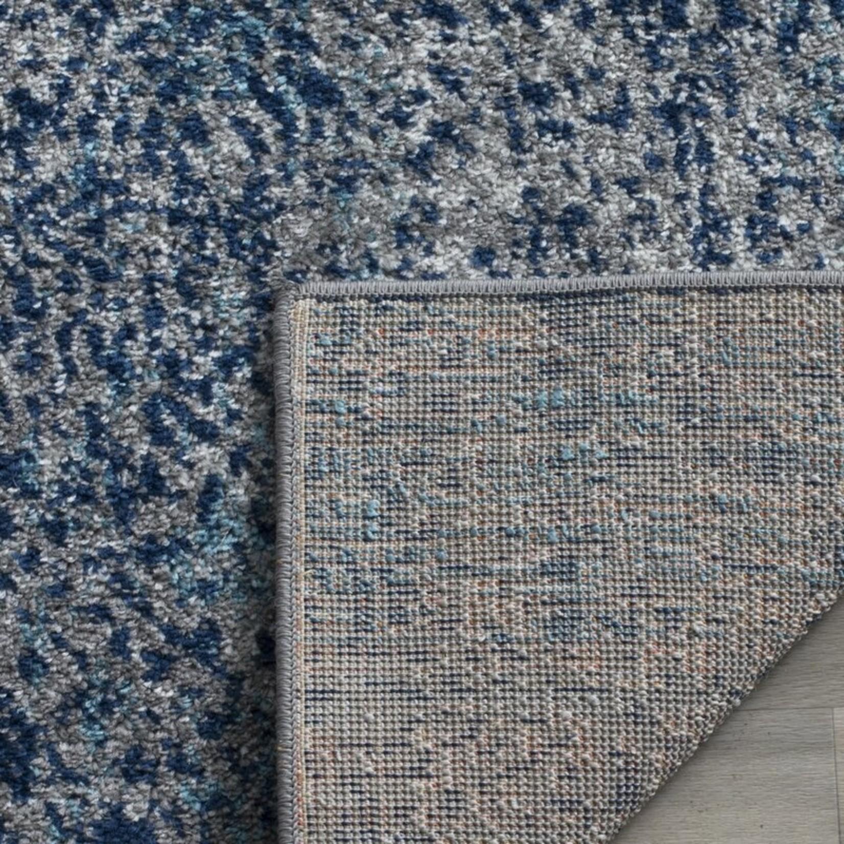 * 9' x 9' - Katie Damask Navy Blue/Silver Rug