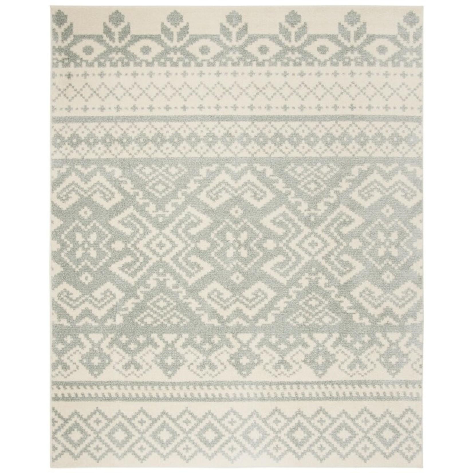 * 9' x 12' - St. Ann Highlands Southwestern Silver Rug