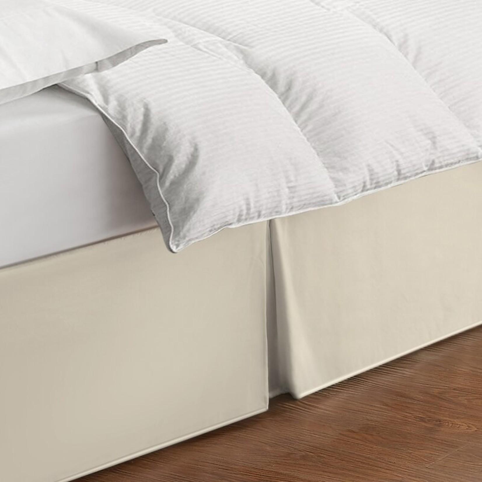 "* King - Rolande Wraparound Tailored 14"" Bed Skirt - Ivory - Final Sale"