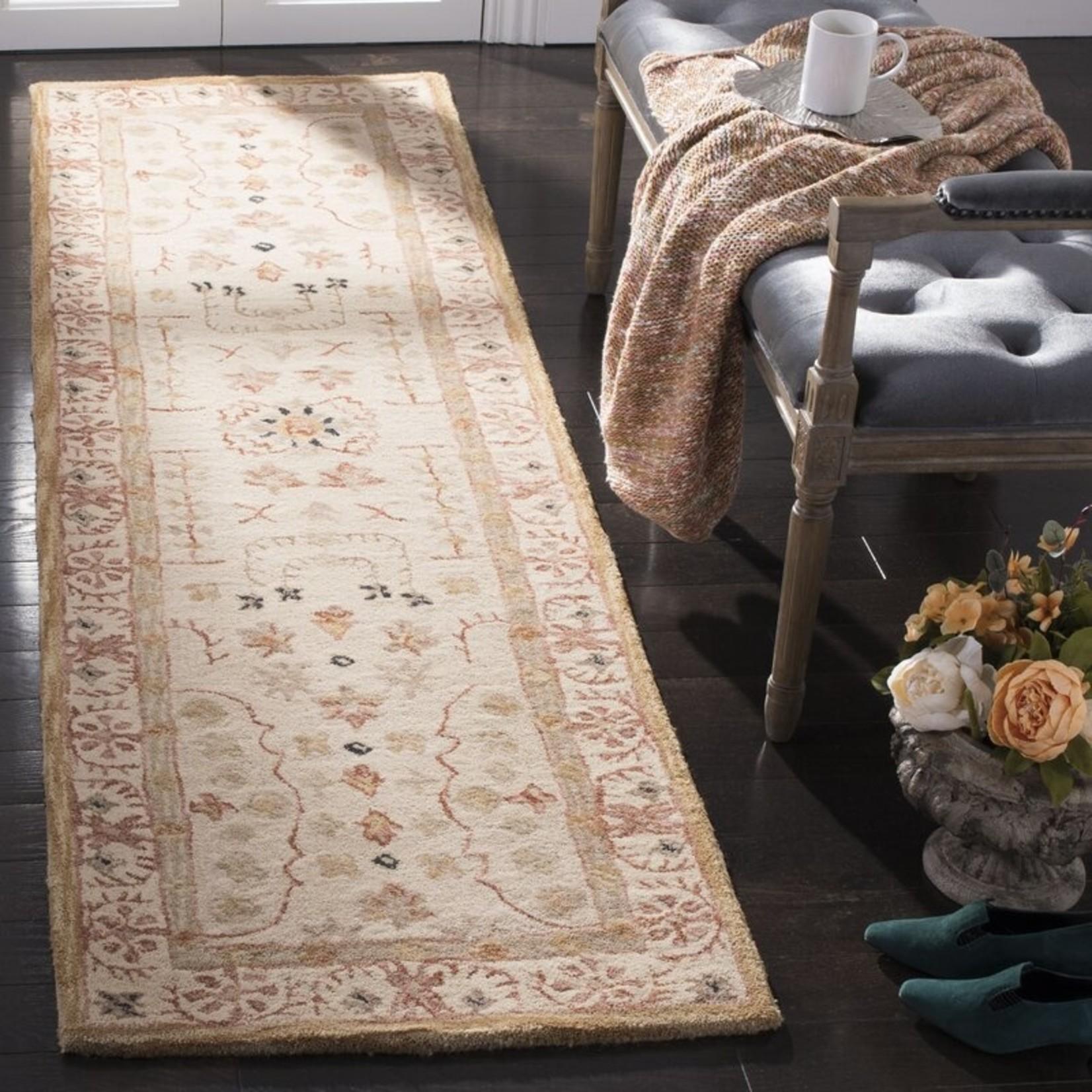 *2'3 x 12 - Tingley Oriental Handmade Tufted Wool Taupe/Beige Area Rug
