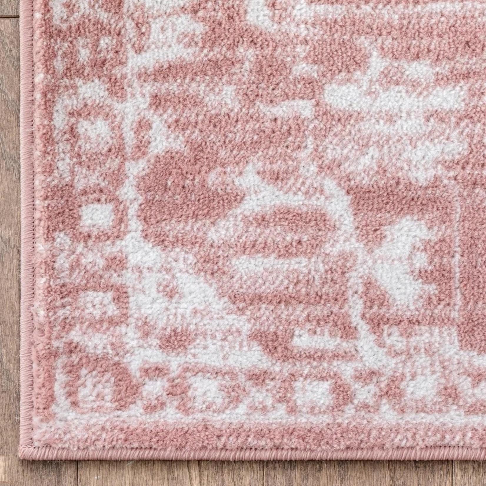 *7'3 x 9'3 - Dazzle Oriental Blush Area Rug