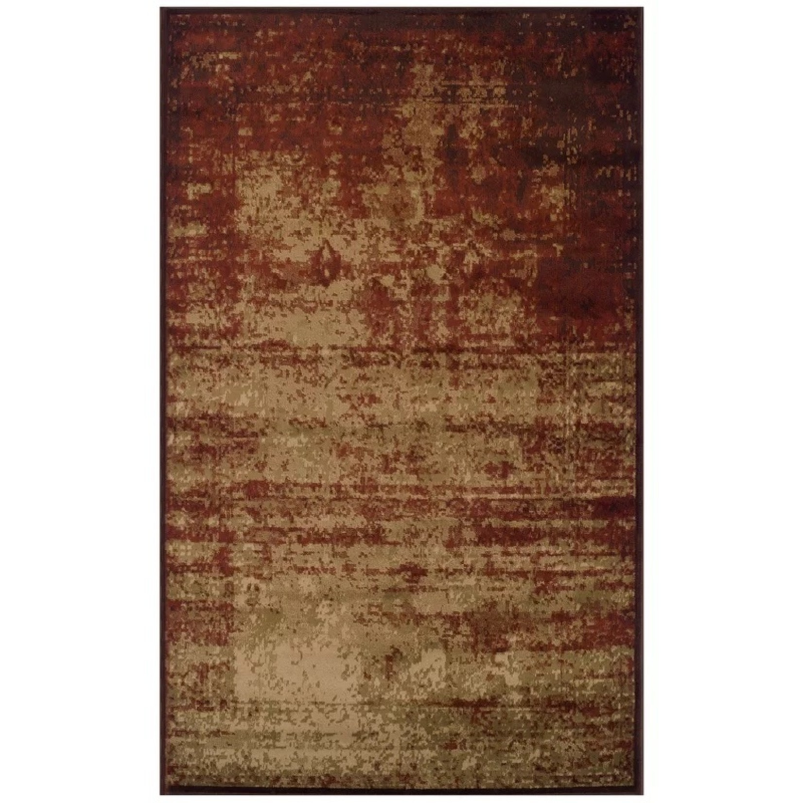 *8' x 10' - Wyona Abstract Red/Grey Area Rug