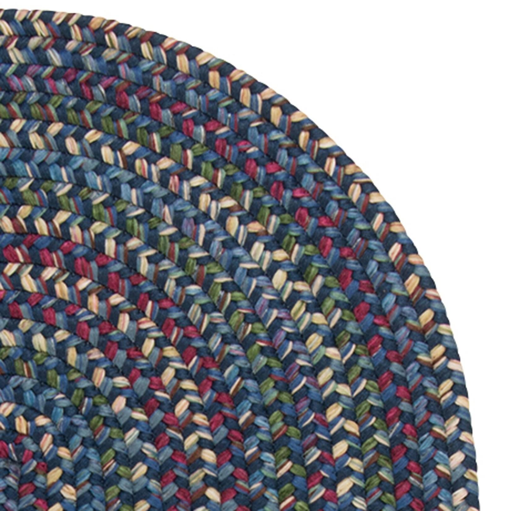 *2' x 4 Oval - Dollman Braided Navy/Green Rug