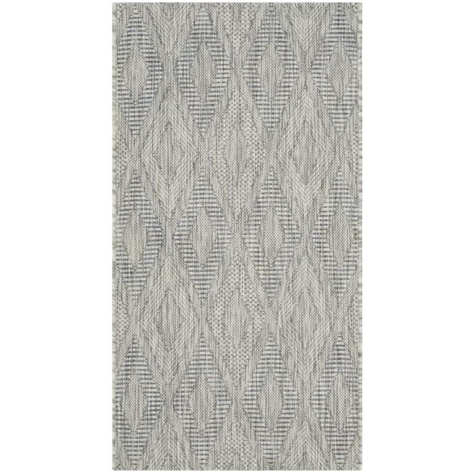 *2'3 x 6'7 - Davy Geometric Gray/Wheat Indoor / Outdoor Area Rug