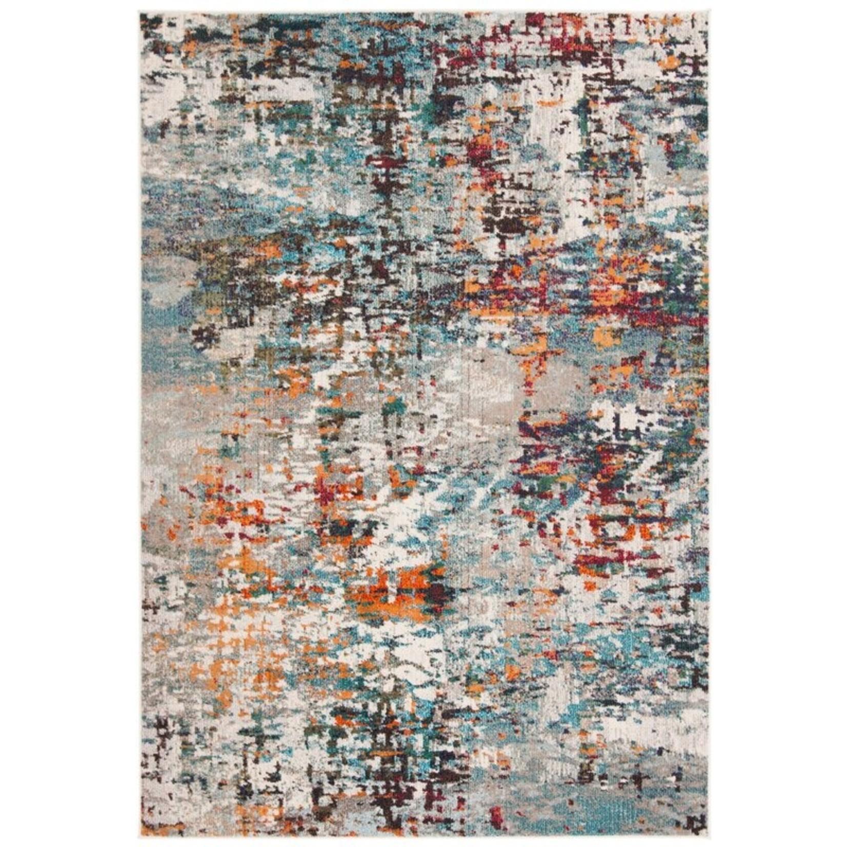*2'2 x 4' - Neasa Gray/Blue/Orange Rug