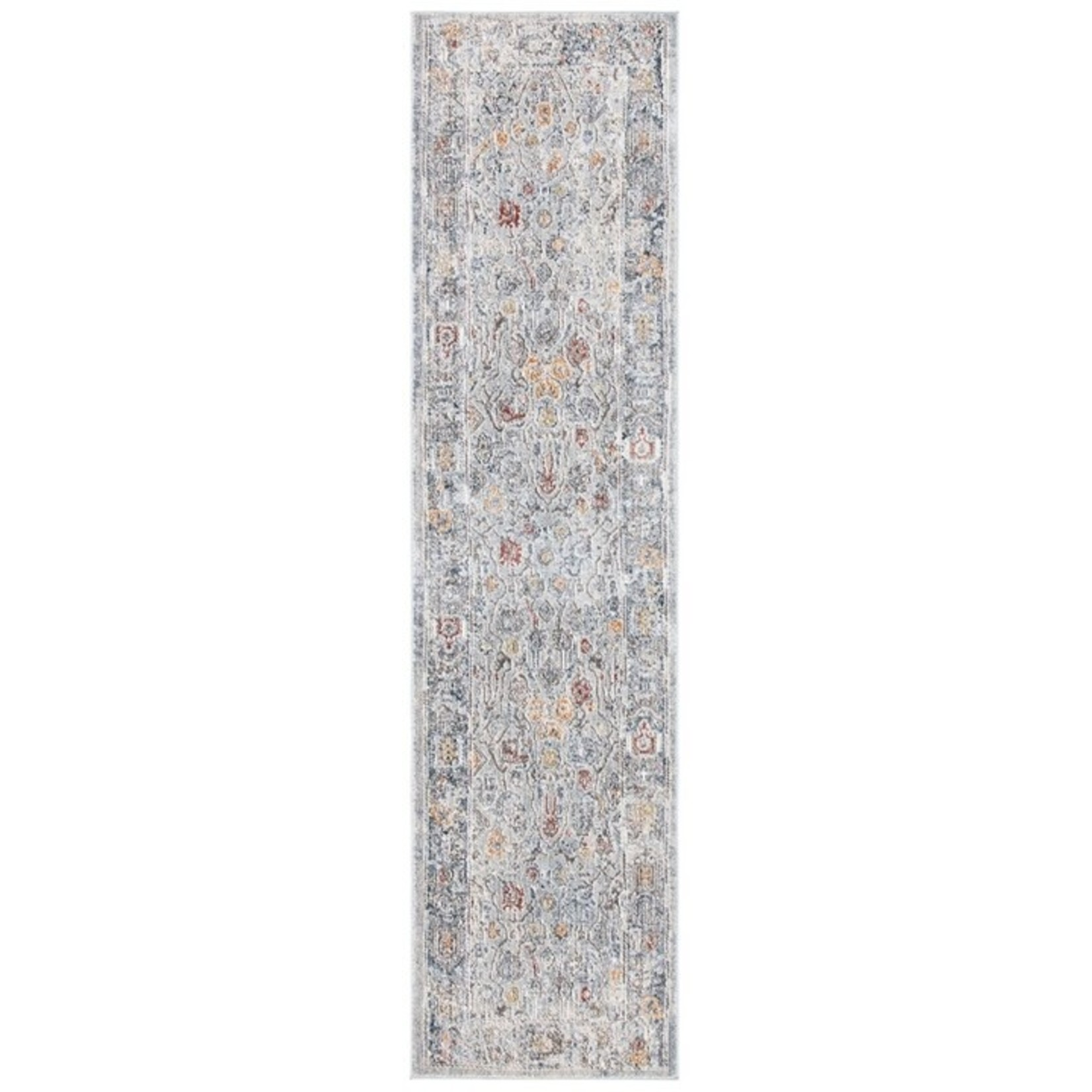 *2' x 8' - History Area Rug In Light Grey