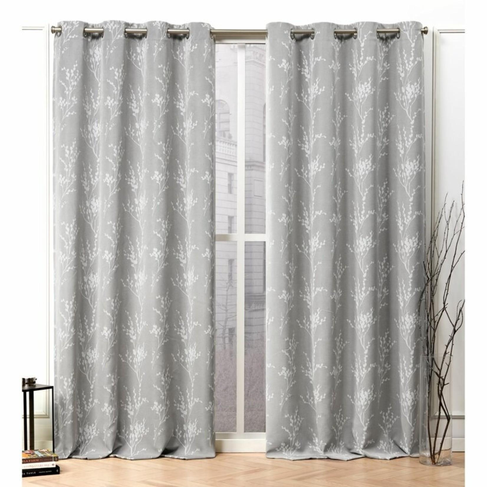 """*50"""" x 63"""" - Aadhvika Floral Room Darkening Thermal Grommet Curtain Panels"""