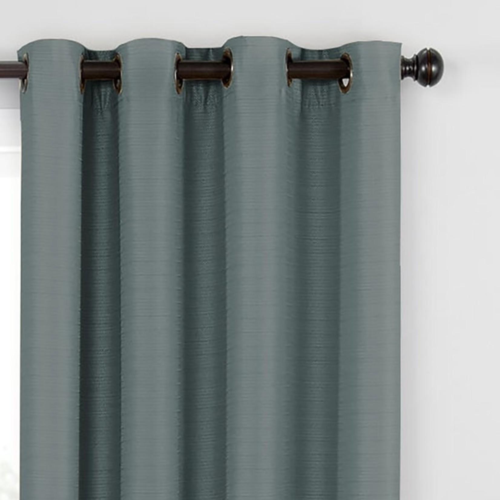 "* 52"" x 95"" - Vaughn Solid Room Darkening Grommet Single Curtain Panel"