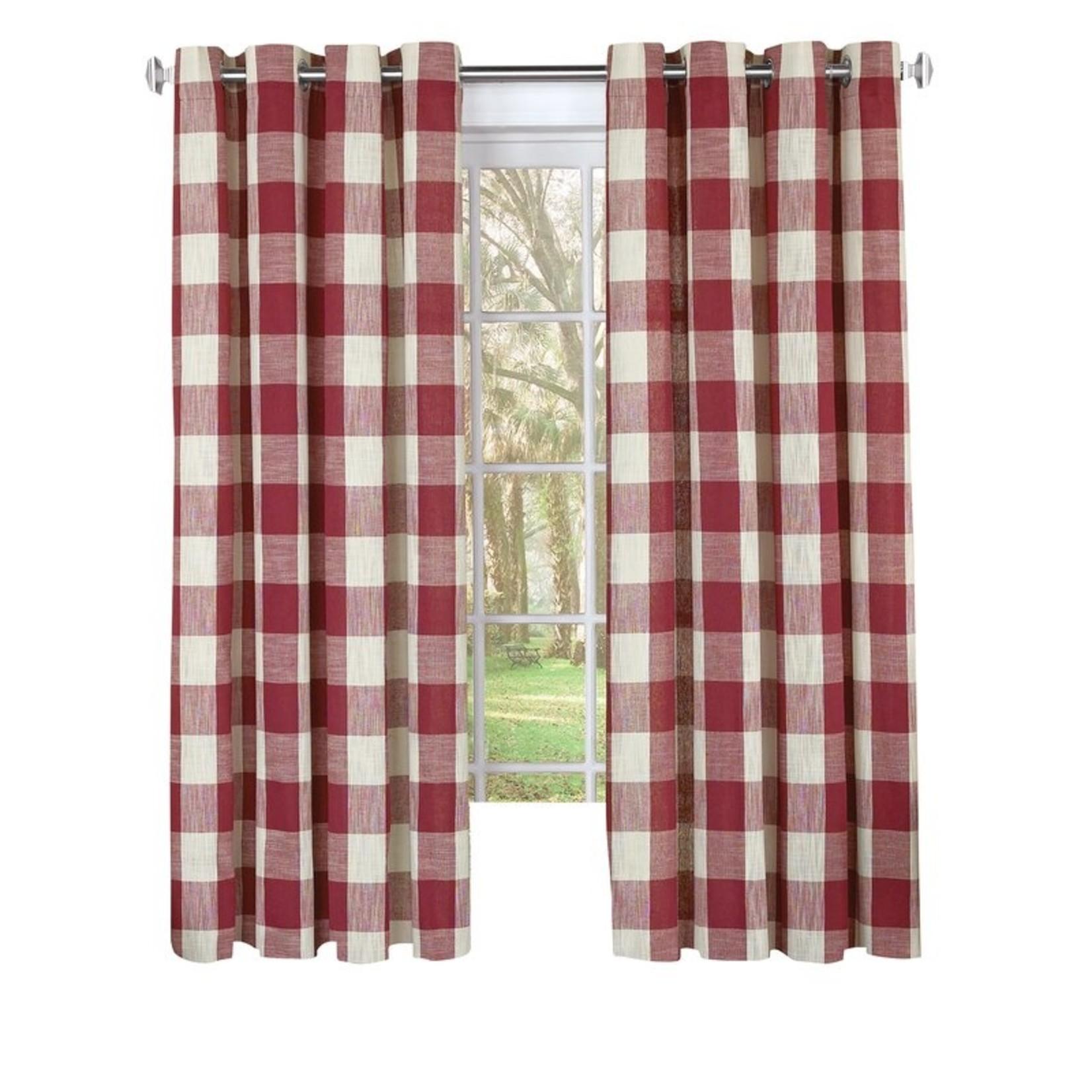 "* 53"" x 63"" - Stylish Checkered Room Darkening Grommet Single Curtain Panel"