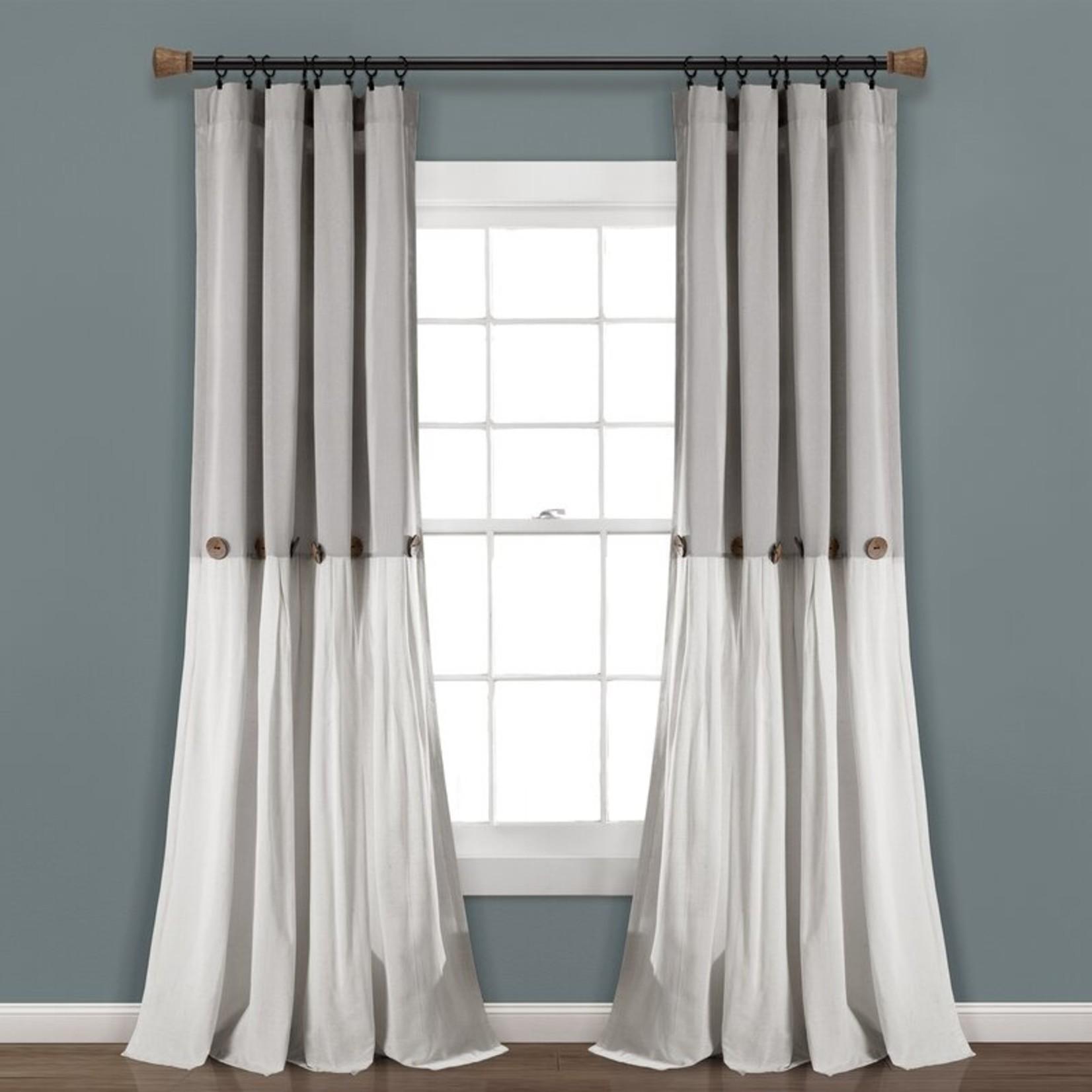 "*40"" x 96"" - Ruya Window Semi-Sheer Rod Pocket Single Curtain Panel"