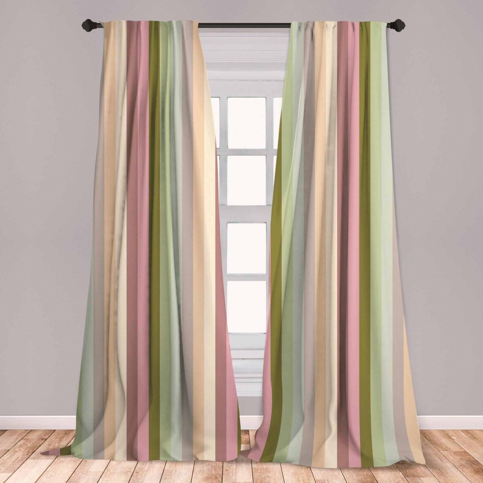 "*28"" x 63"" - Stripes Room Darkening Rod Pocket Curtain Panels"