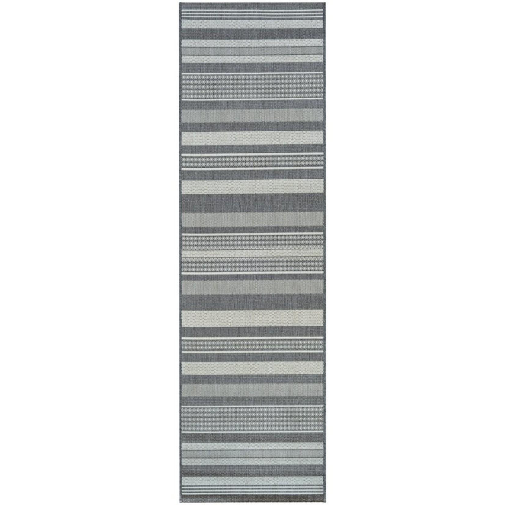 *2'3 x 7'10 -  Anguila Striped Gray Area Rug