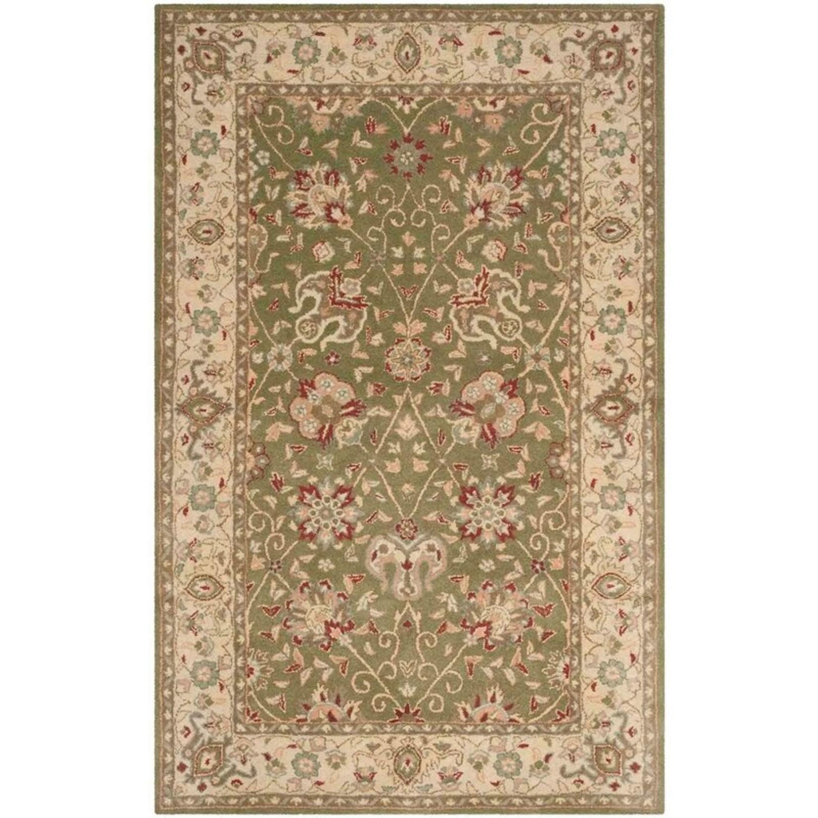 *2' x 3 - Dunbar Oriental Hand-Tufted Wool Ivory/Light Green Area Rug