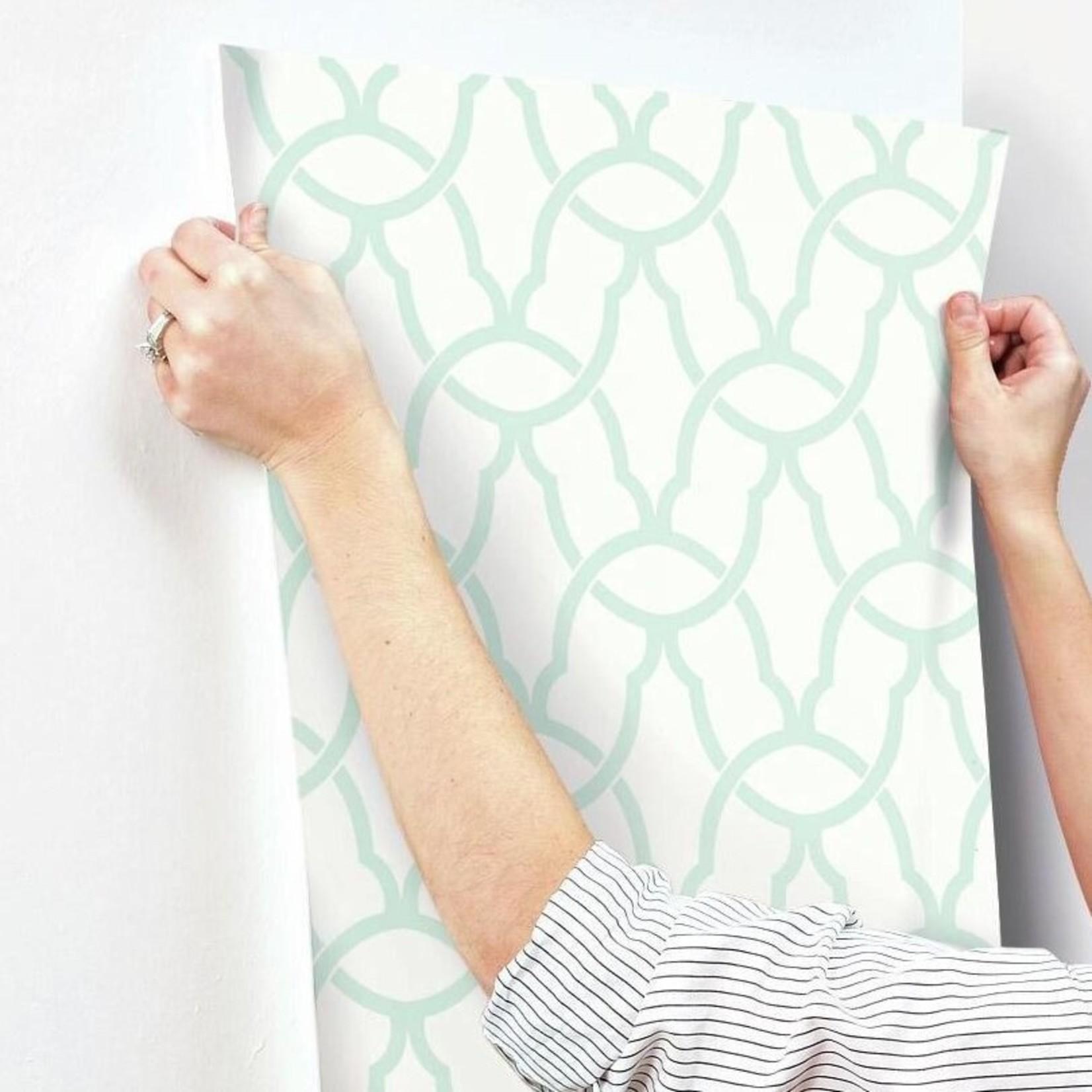 "*Minden 16.5'L  x 20.5""W Trellis Peel and Stick Wallpaper"
