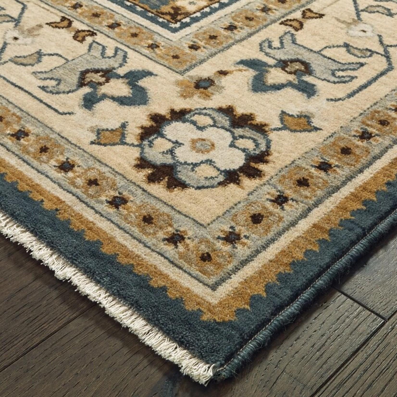 *2' x 3' -  Ashville Oriental Teal Blue Area Rug