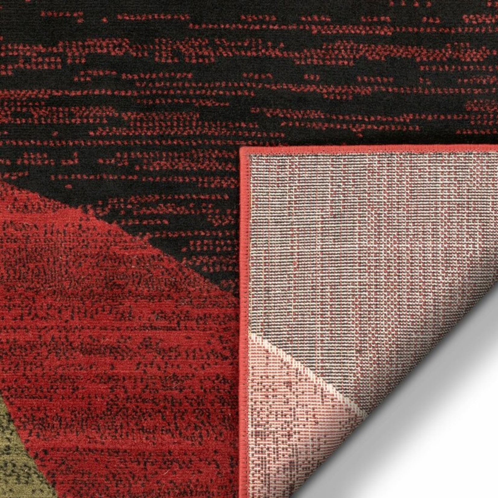 *2'7 x 3'11 -  Chelsi Power Loom Red/Beige Rug