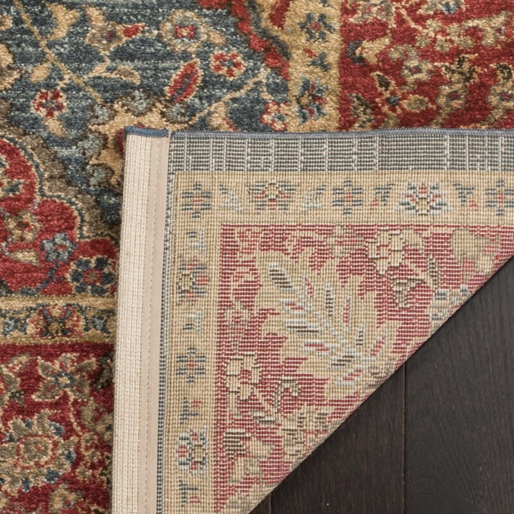 *2'2 x 4' -  Pennypacker Oriental Navy/Red Area Rug