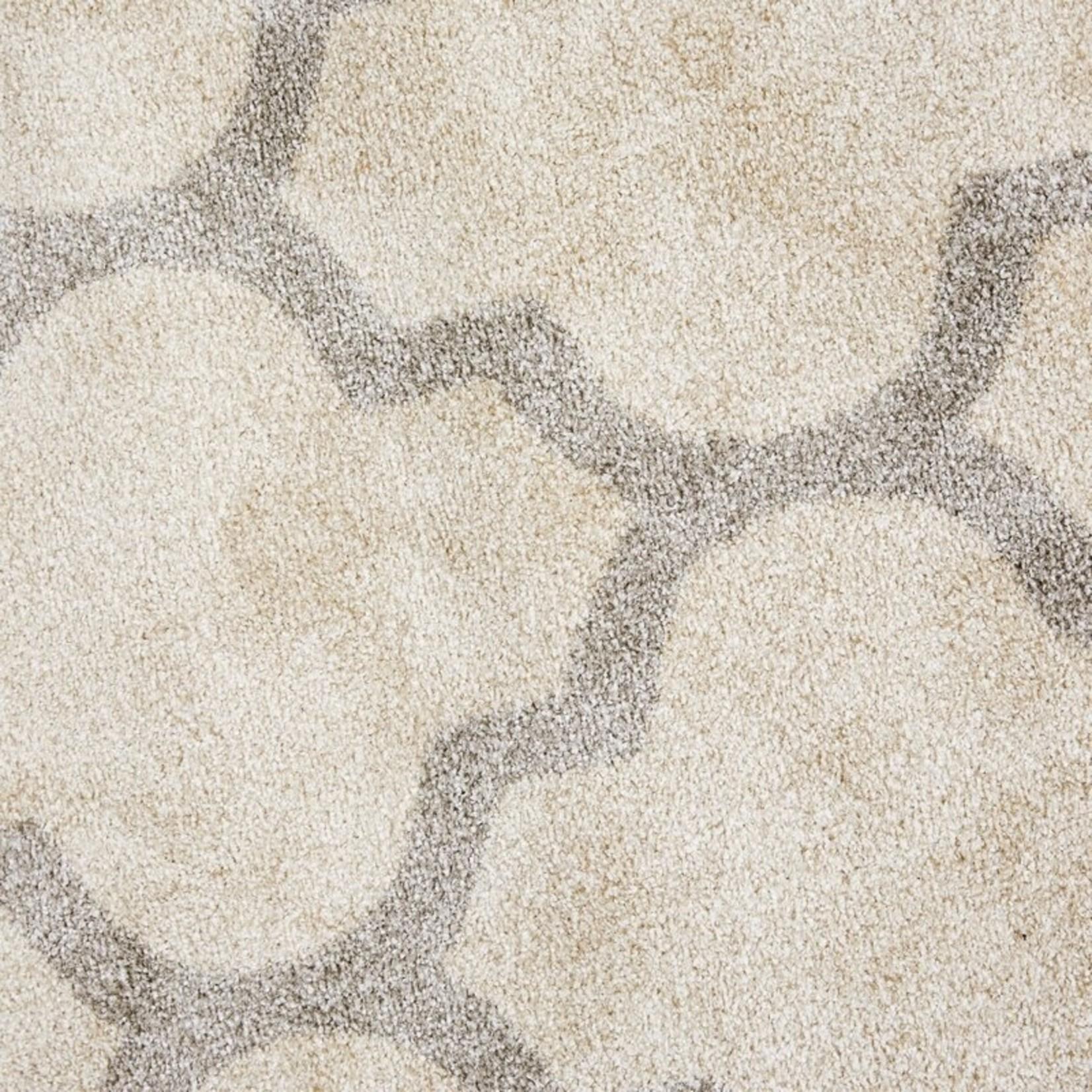 *2'3 x 7' - Dombrowski Geometric Dark Grey/Beige Area Rug