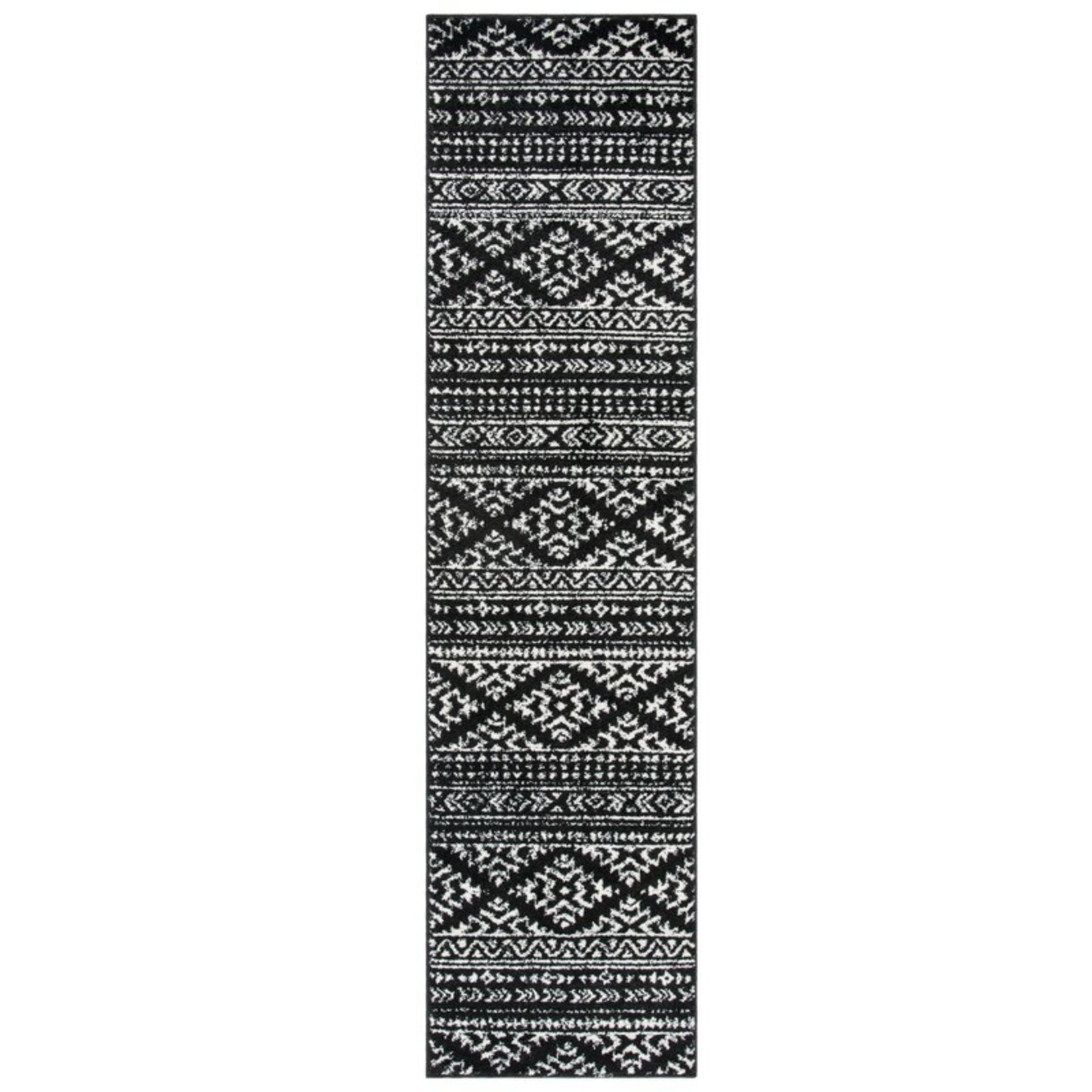 *2' x 8' -  Cobos Polypropylene Black Rug
