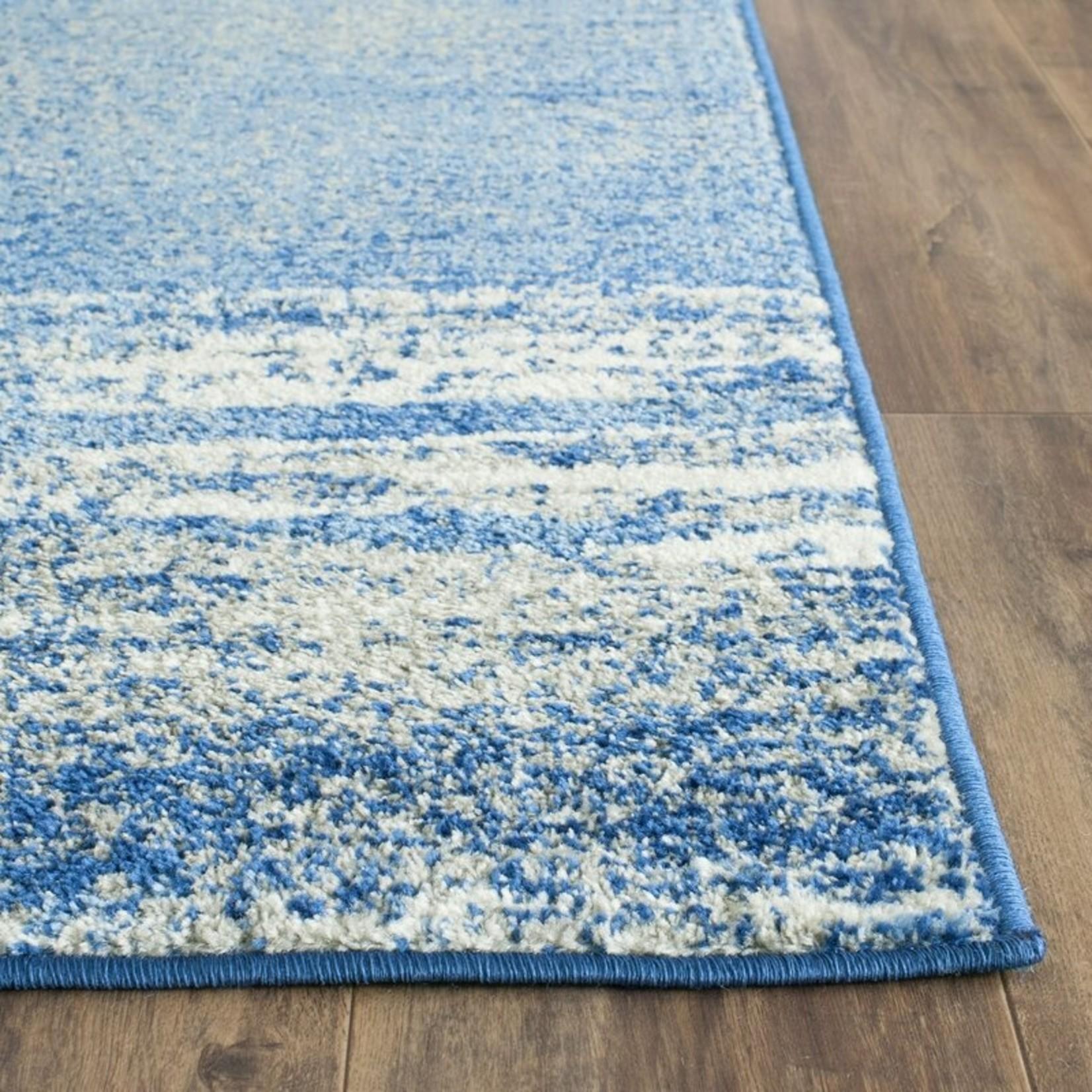 *3' x 5' -  Costa Mesa Abstract Silver/Blue Area Rug