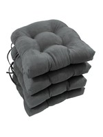 *Indoor/Outdoor Dining Chair Cushion - Grey - Set of 4