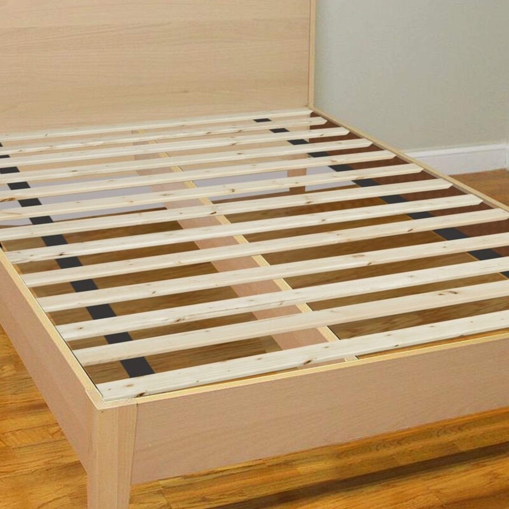*King - Betterton Attached Solid Wood Bed Support Slats - Bunkie Board