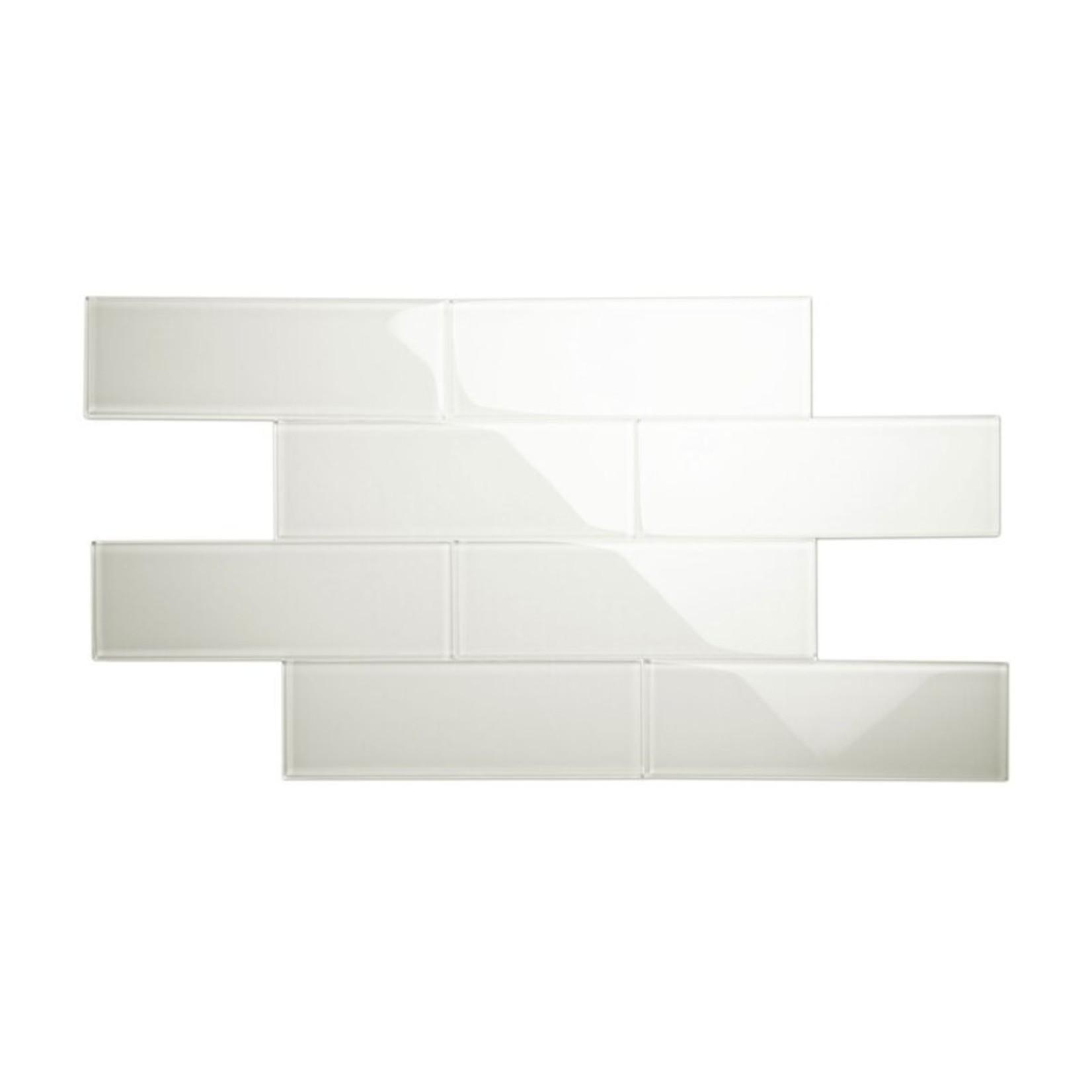 "*Premium 4"" x 12"" Glass Subway Tile - Moonlight Grey"