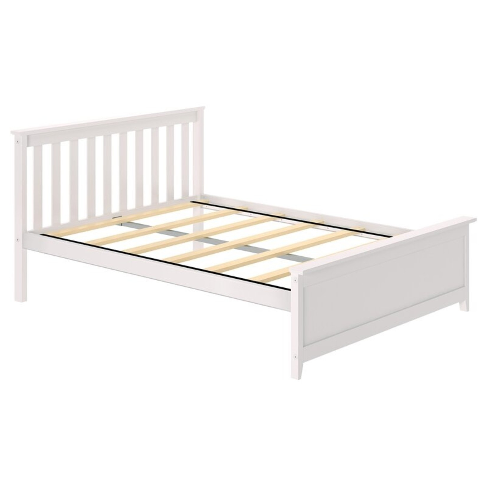 * Full - Bolin Solid Wood Platform Bed by Harriet Bee- White