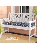 *Geometric Indoor/Outdoor Bench Cushion - Blue