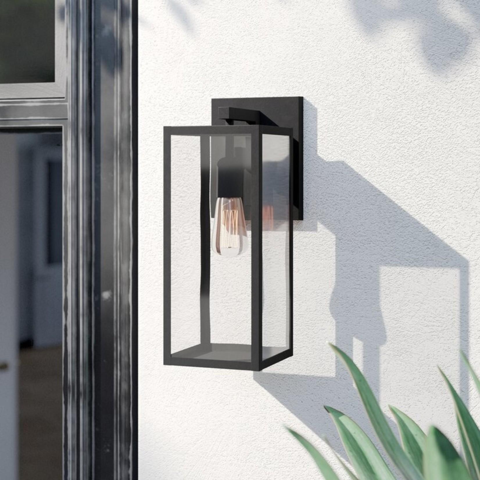"*Malak 1 - Bulb 14.76"" H Outdoor Wall Lantern - Matte Black"