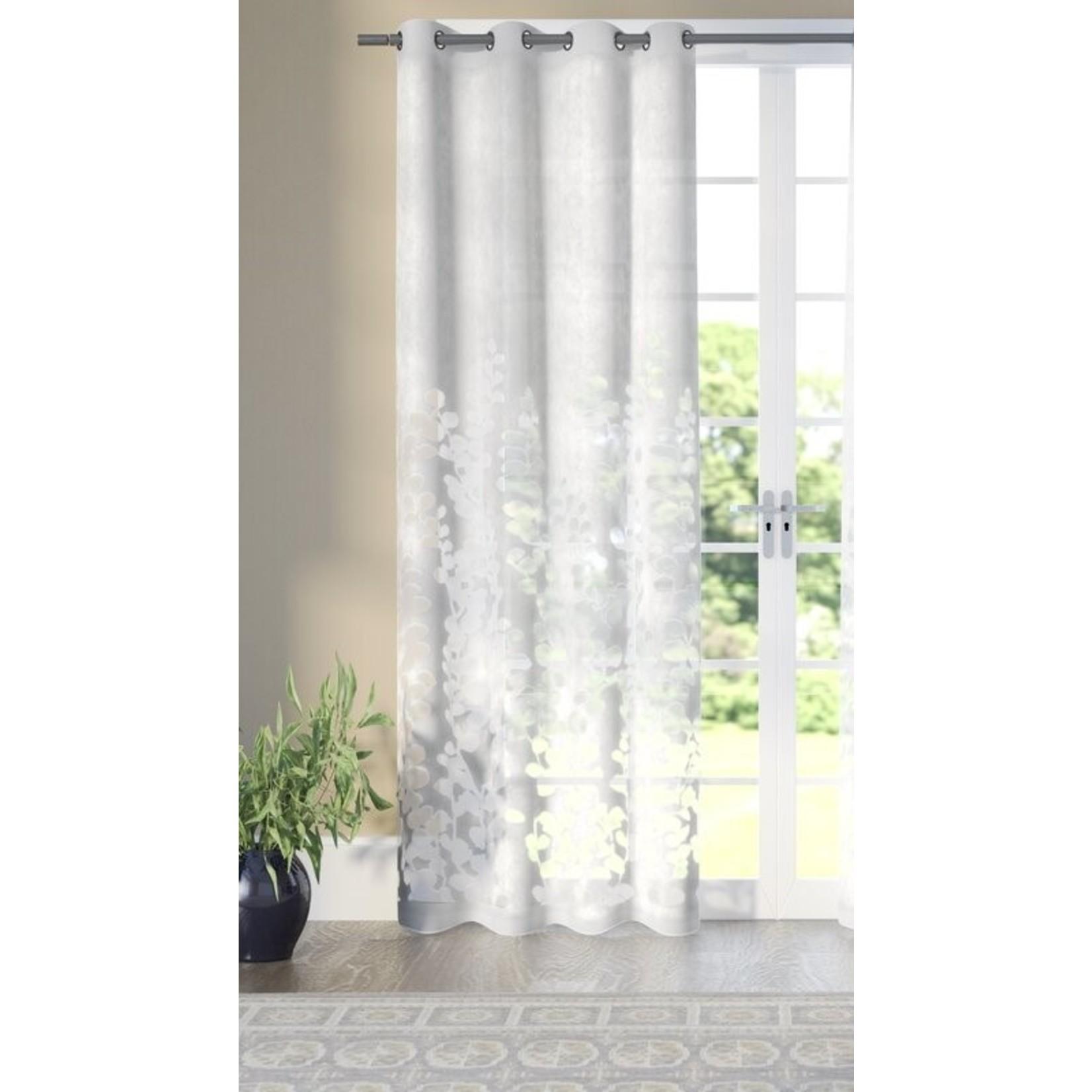 "* 52"" x 96"" - Ryckman Cotton Blend Semi-Sheer Single Grommet Curtain Panel - Single Panel"