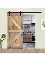 *Paneled Manufactured Wood Painted Barn Door without Installation Hardware Kit - Some Damage