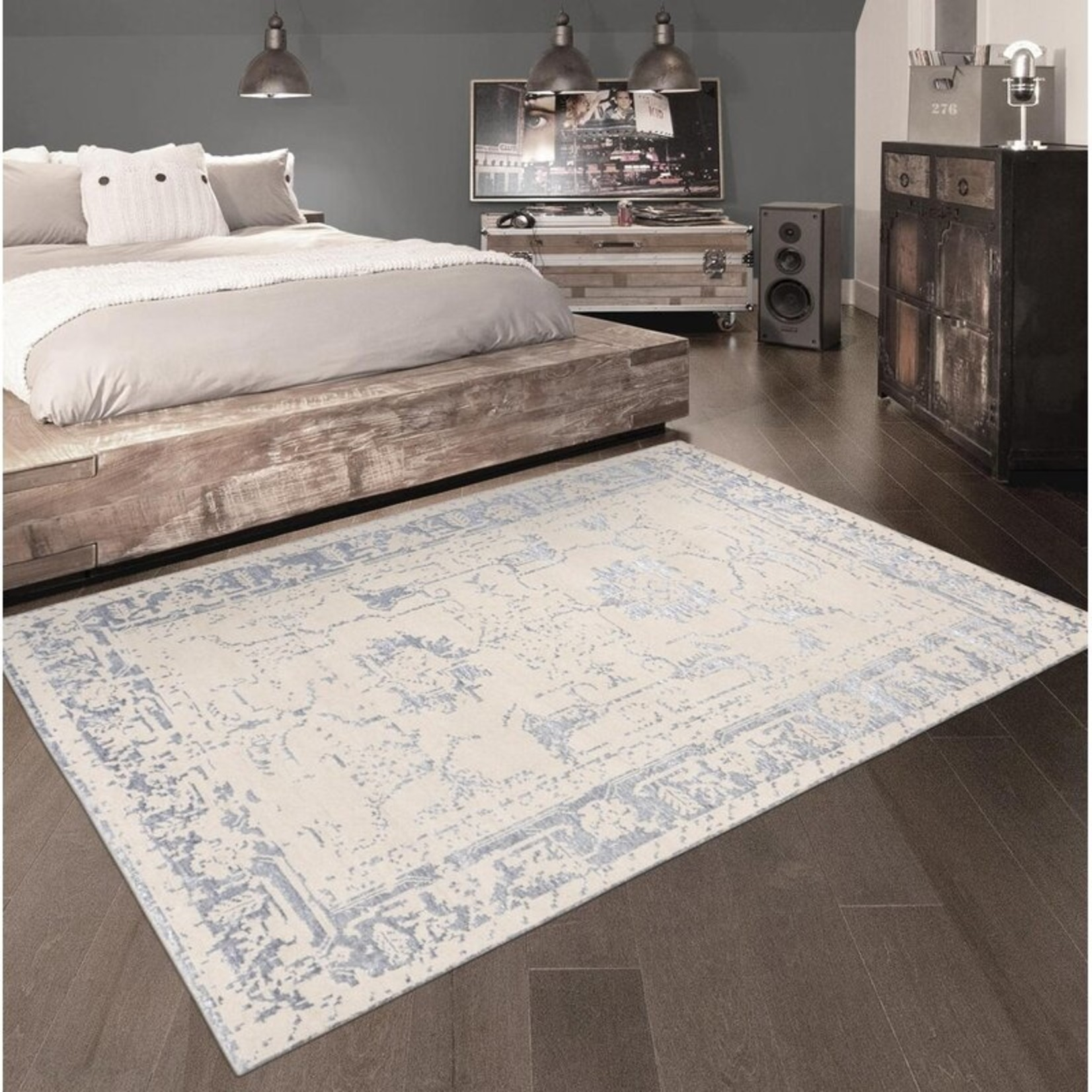 """*8'10"""" x 11'8"""" - Oriental Hand Knotted Beige/Silver Area Rug"""