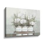 "*8"" x 10"" - White Flower Jars by Portfolio Dogwood - Graphic Art Print on Canvas"