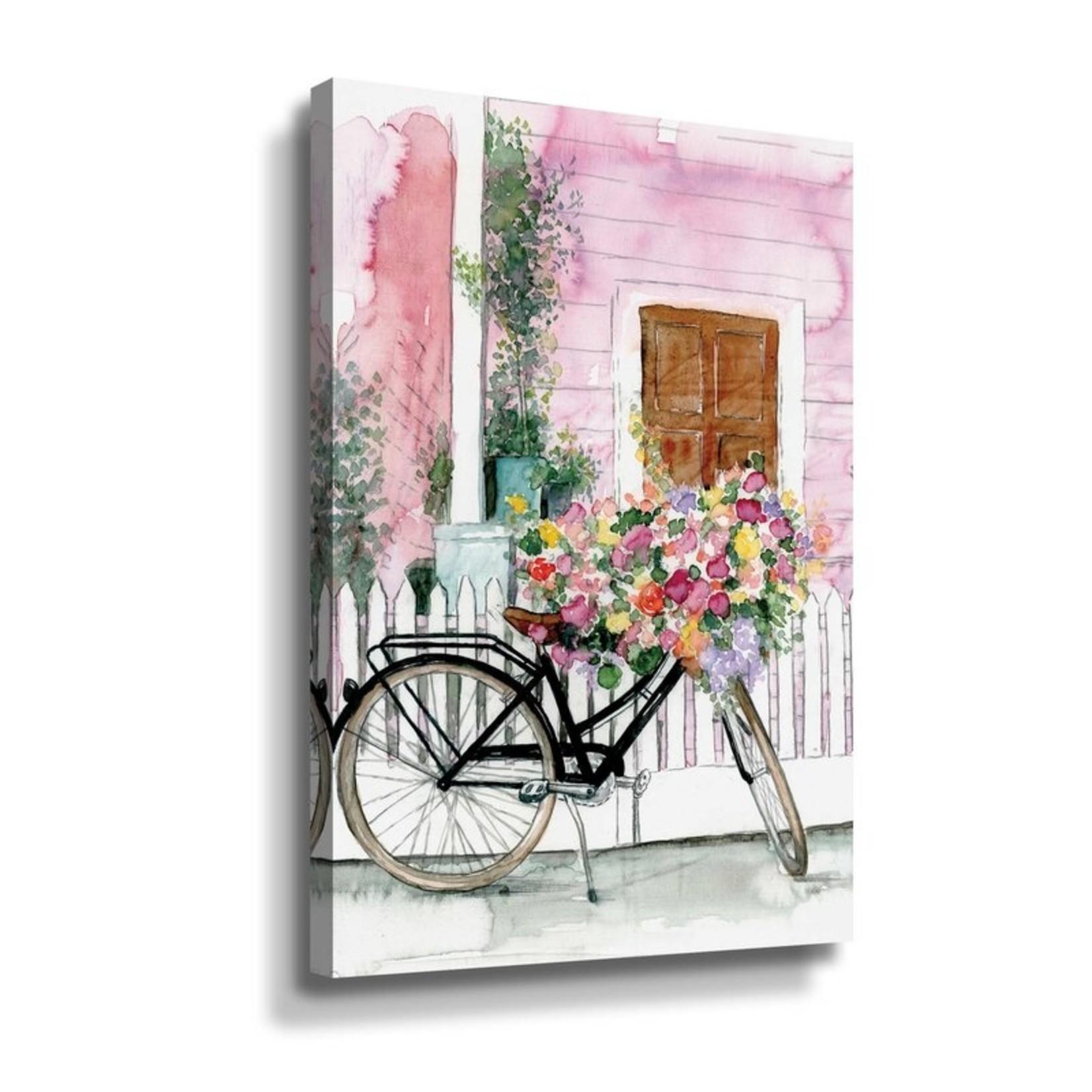 "*12"" x 18"" - Spring Bike Ride by Portfolio Dogwood - Painting Print on Canvas"