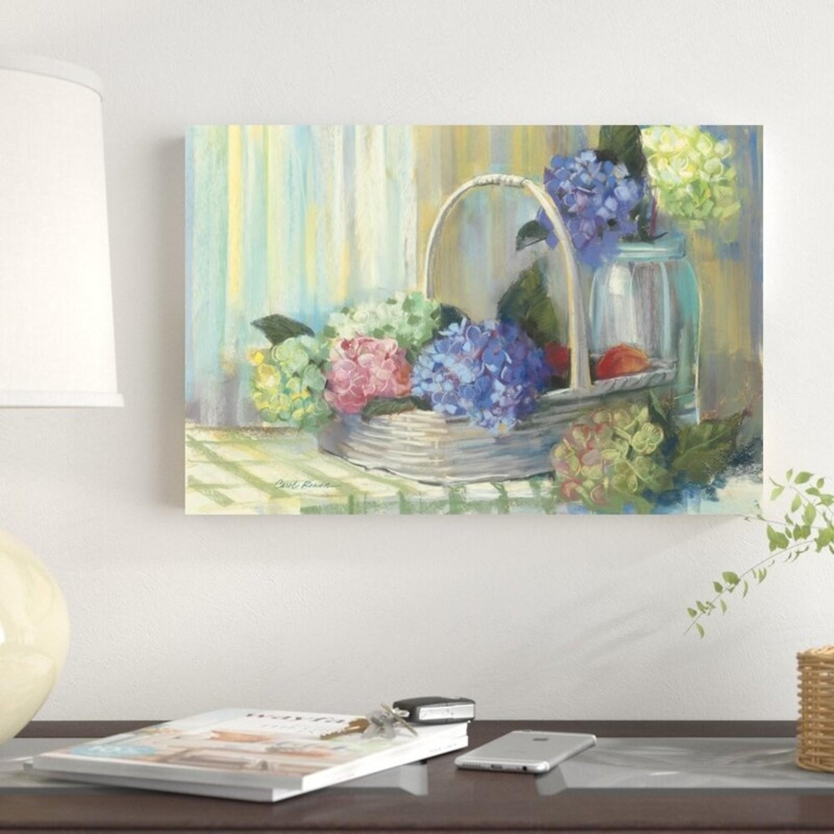 "*12"" x 18"" - Hydrangea Basket by Carol Rowan - Wrapped Canvas Painting Print"
