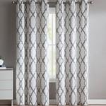 """*38"""" x 96"""" -Musgrove Geometric Semi-Sheer Grommet Curtain - Set of 2Panels"""