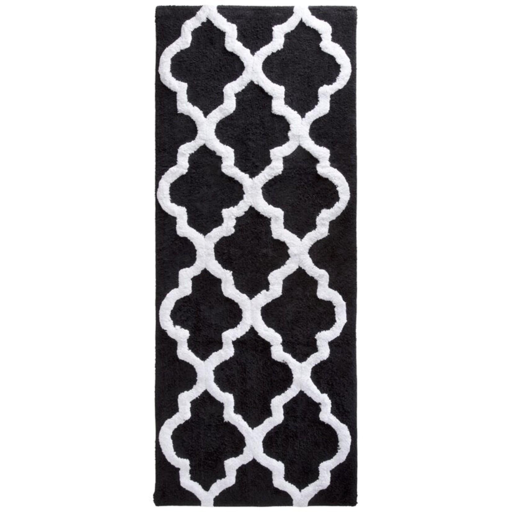 *Long Trellis Rectangular 100% Cotton Non-Slip Geometric Bath Rug