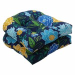*Spring Bling Blue Indoor/Outdoor Seat Cushion - Set of 6