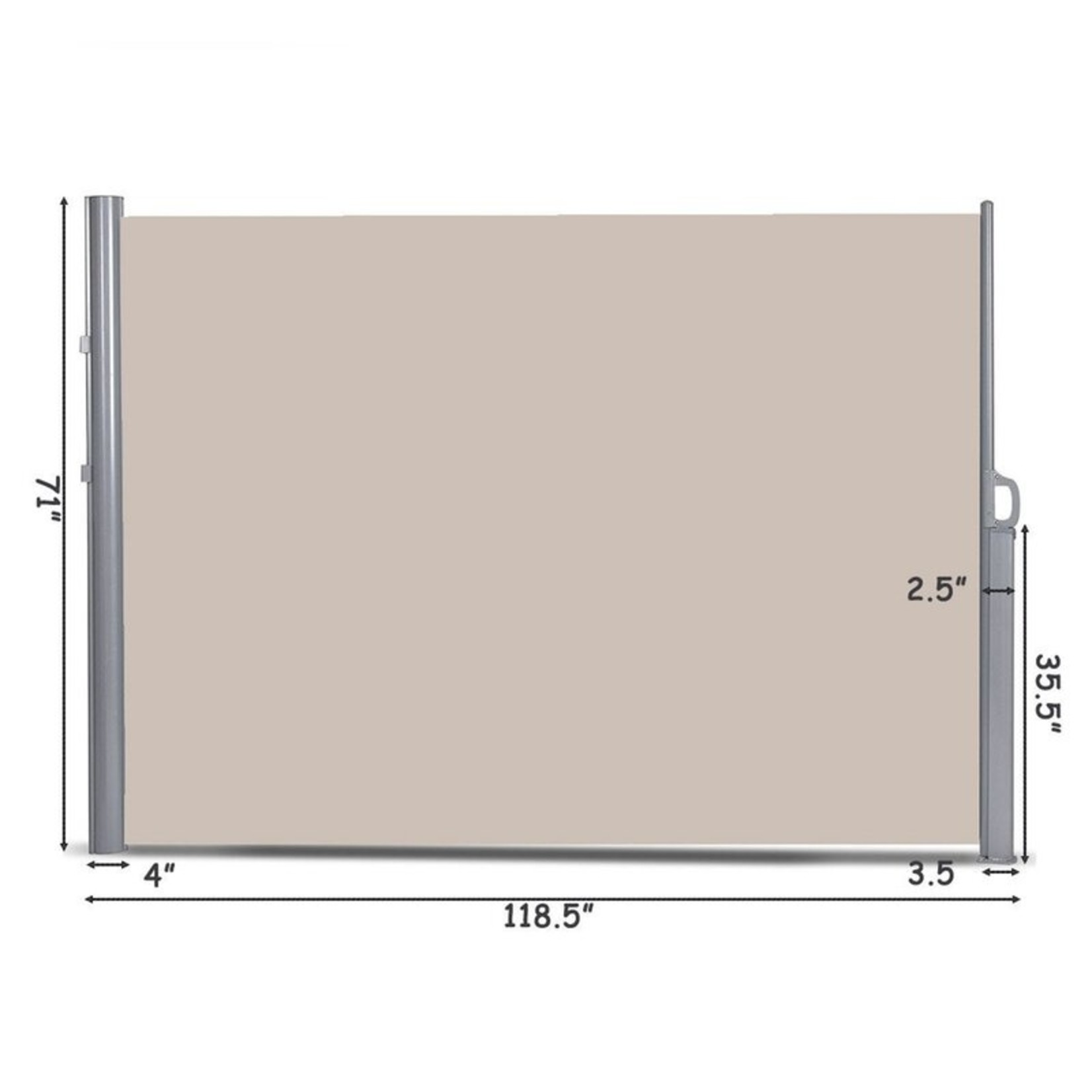 """*118.5"""" x 71"""" Retractable Side Awning"""