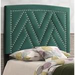 *Twin - Delossantos Upholstered Panel Headboard - Green