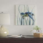 """*16"""" x 16"""" - Turtle in Seagrass II - Wrapped Canvas Print"""