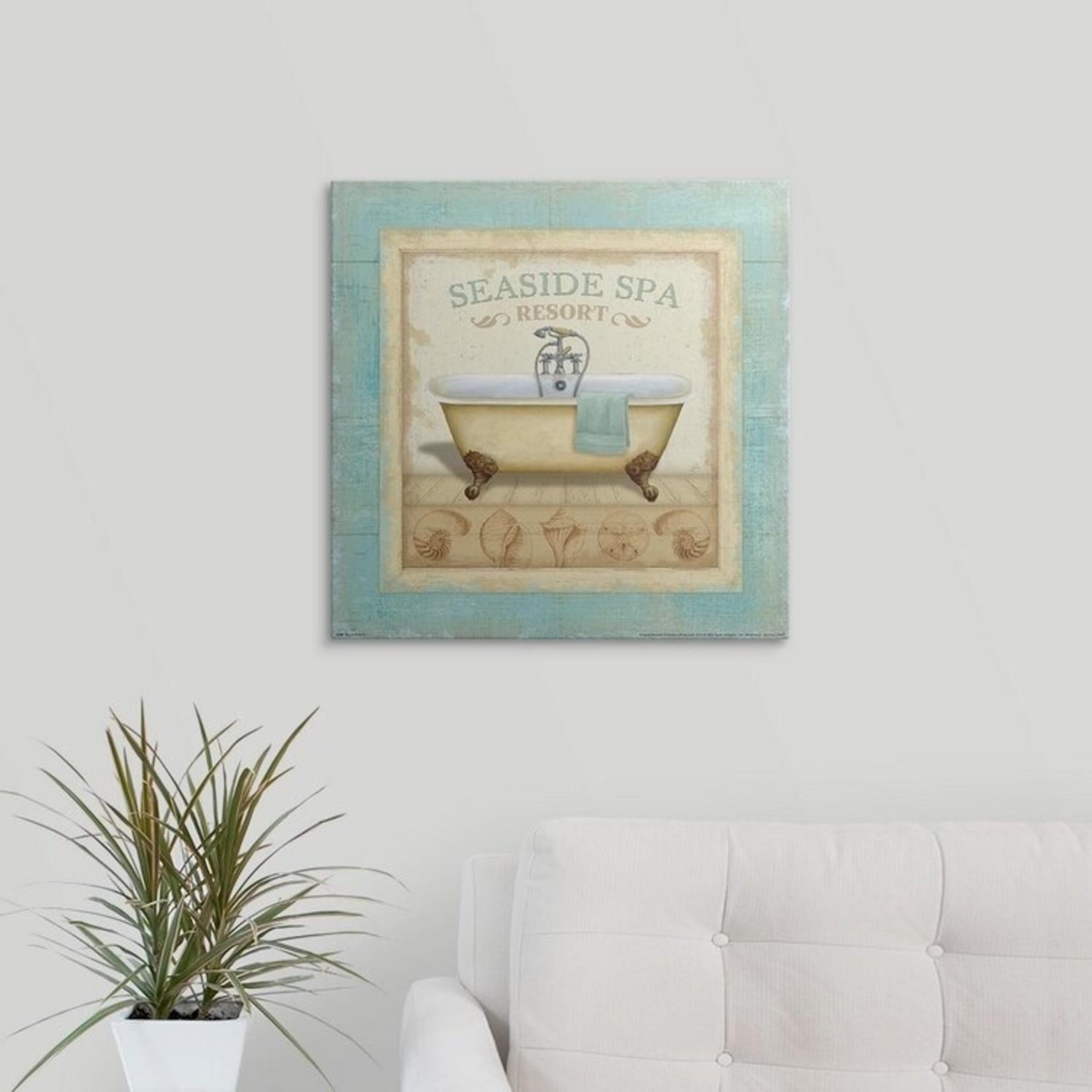 "*20"" x 20' - 'Beach Hotel II' Daphne Brissonnet Graphic Art Print"