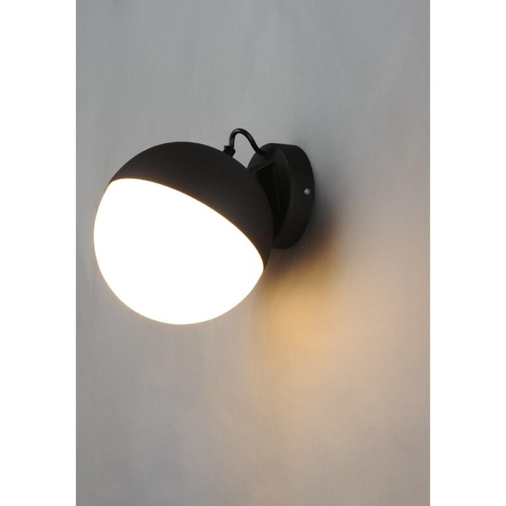 *Leduc 1-Light Half Moon - Black